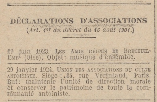 Paris - Journal officiel de la République française. Lois et décrets 29 jan. 1924