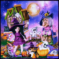 Halloween sorcellerie horloge code inclu