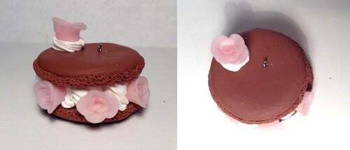 Macaron chocolat rose :D