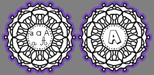 Les mandalas de l'alphabet