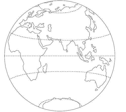 Leçon de géographie les lignes imaginaires : Je sais ma leçon si...