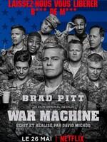 War Machine : Un film sur la guerre qui retrace le parcours en montagnes russes d'un général américain et souligne la question très actuelle de la limite entre réalité et mascarade cruelle. Se prenant pour un leader né et persuadé d'être dans le vrai, il se précipite, droit dans ses bottes, au cœur de la folie. Brad Pitt pose un regard moqueur sur le général décoré et charismatique Stanley McChrystal, une personnalité militaire parmi les plus clivantes qui a pris la tête des forces de l'OTAN en Afghanistan avec la fougue d'une rock star, avant d'être envoyé au tapis par sa propre vanité suite à l'article sans langue de bois d'un journaliste. War Machine évoque ce que l'on doit aux soldats en posant la question de l'objectif de leur engagement. ... ----- ... Origine : Américain  Réalisation : David Michôd  Durée : 2h 02min  Acteur(s) : Brad Pitt,Topher Grace,RJ Cyler  Genre : Comédie,Drame,Guerre  Date de sortie : 26 mai 2017 sur Netflix  Année de production : 2017  Distributeur : Netflix France  Critiques Spectateurs : 3,1
