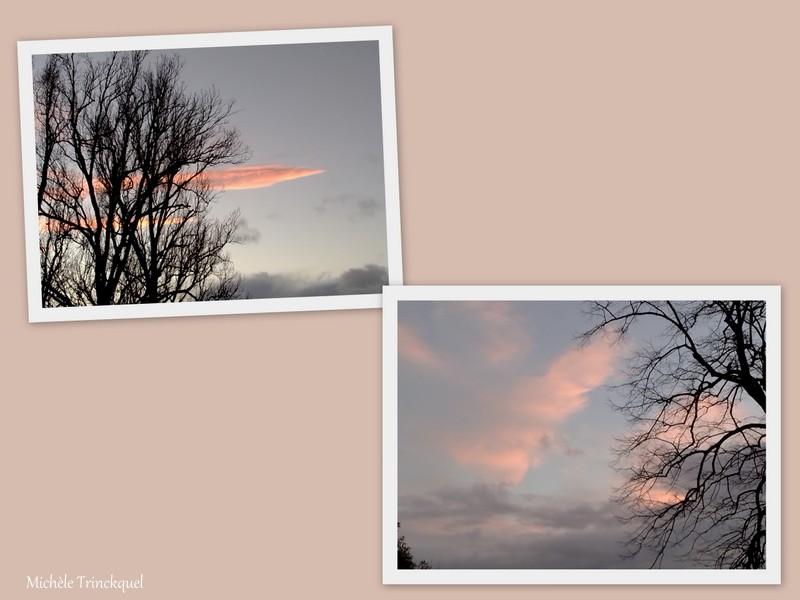 Le ciel du soir à ST AUBIN (40), le 22 janvier....