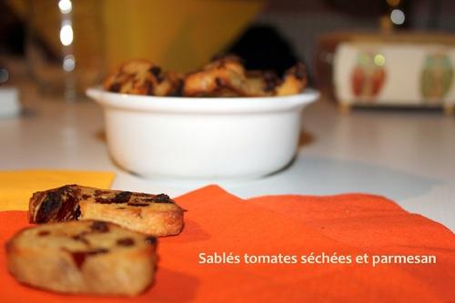 Sablés aux tomates séchées et au parmesan