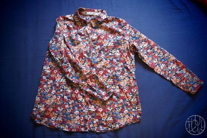 Ma chemise Lilas en Liberty