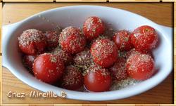 Riz aux Tomates-cerises Gratinées