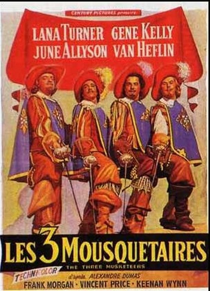 LES 3 MOUSQUETAIRES - BOX OFFICE GENE KELLY 1950