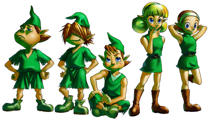 The Children of the Forest, the Kokiri - <i>Ocarina of Time 3D</i>
