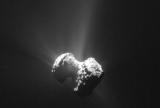 La comète Tchouri sur une photo prise par la sonde Rosetta le 20juillet.