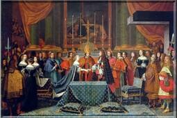 Le mariage du roi Louis XIV et de l'infante d'Autriche