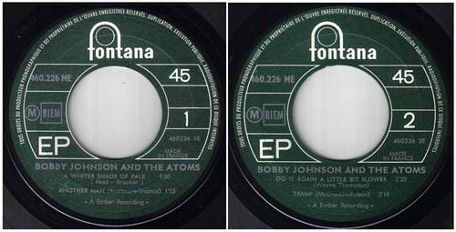BOBBY JOHNSON & THE ATOMS