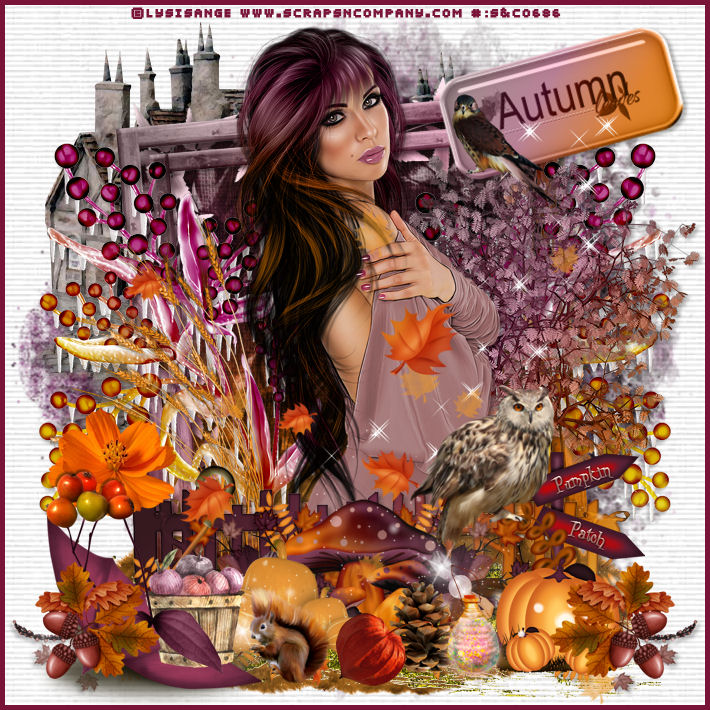 "Defi masque chez Delire2scrap : mon tag ""autumn is here"""