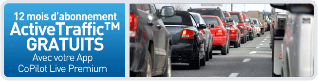 CoPilot Live Premium vous offre l'info Traffic !