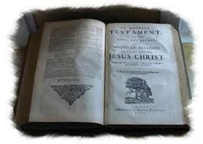 """Bible de Genève 1669 """"la nouvelle Alliance"""""""