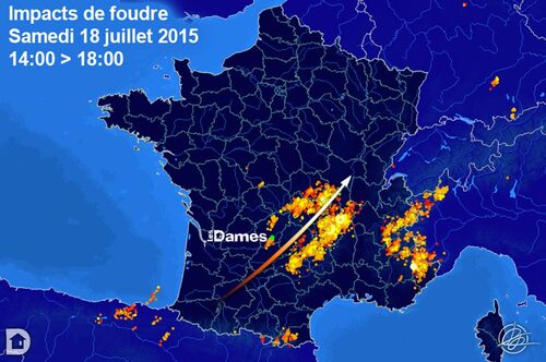 Impacts de foudre