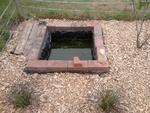 Vu du bassin enfin dégagé des hautes herbes!!