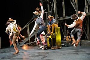 dance ballet class western saloon dancers