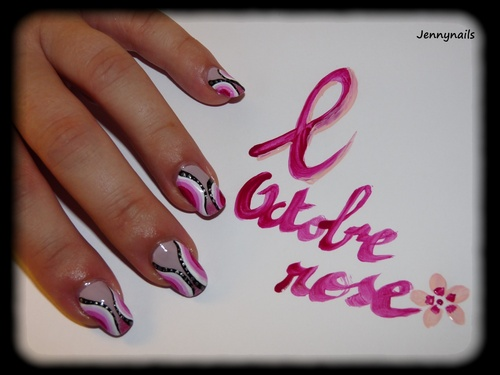 - Nail art - Octobre rose