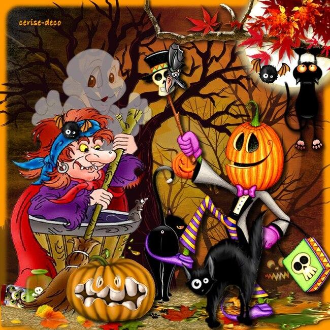 ma participation halloween pour le défi d'anastasia
