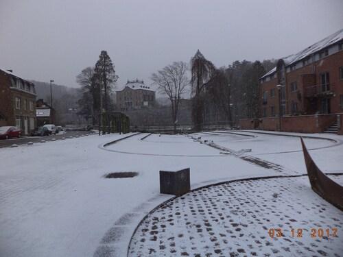 Au marché sous la neige
