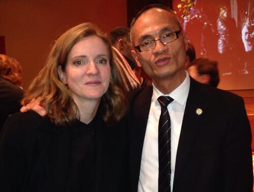 Le Proviseur Karatéka avec Nathalie Kosciusko-Morizet