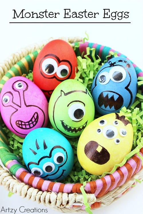 Pâques / Easter : On pense à la déco des œufs !
