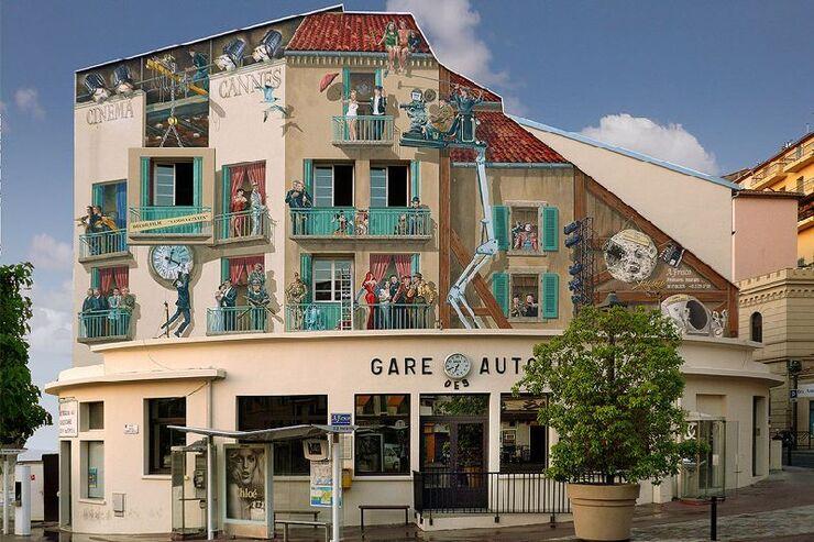 Murs peints à Cannes en voici quelques uns !
