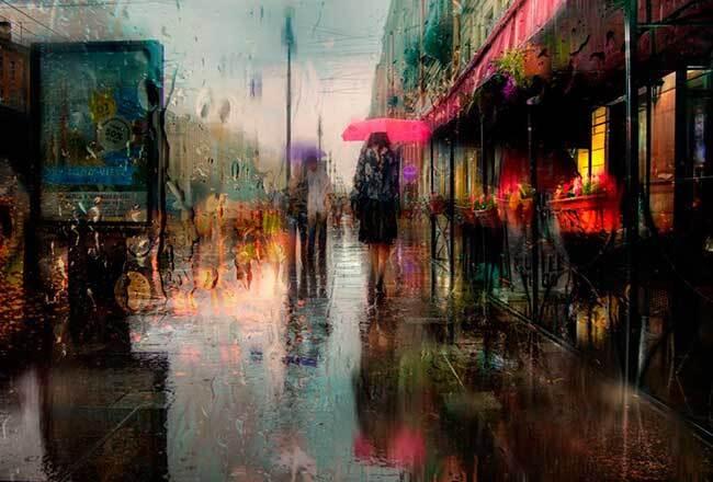 eduard gordeev photographies urbaines peinture style 11 - Ces Photos Urbaines sous la Pluie Ressemblent à des Peintures