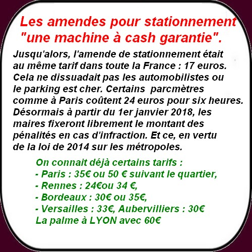 L'amende pour stationnement ou le nouveau tiroir caisse des municipalités!