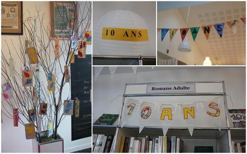 C'était jour d'anniversaire à la bibliothèque