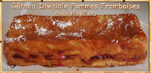 Gâteau Invisible Pommes Framboises