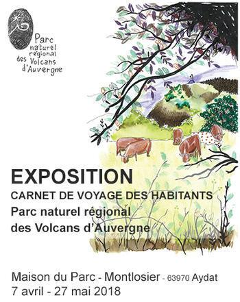 Expo carnet des habitants du Parc affiche (Agrandir l'image).