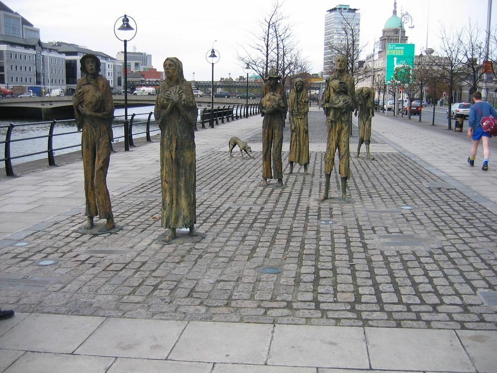 Quelques statues à Dublin, si, je vous en ai déjà montré une ...