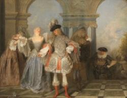 Watteau, Les Comédiens français (Met, New York)
