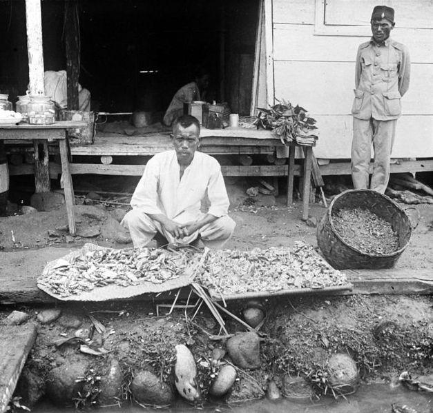 Vendeur de benjoin dans le nord de Sumatra (COLLECTIE_TROPENMUSEUM)