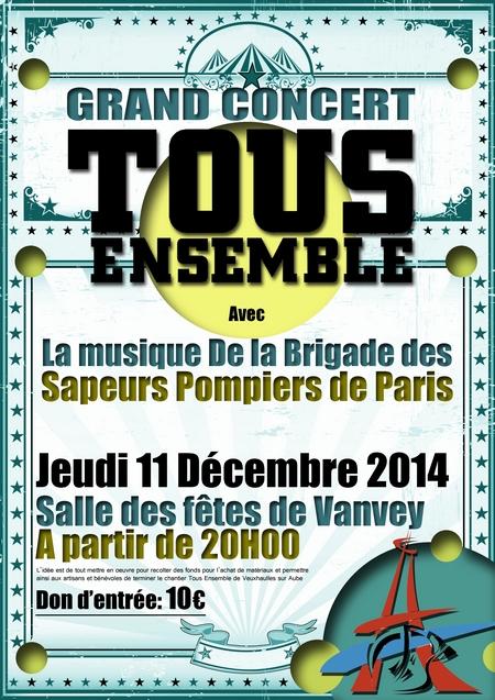 Un beau concert des Pompiers de Paris au profit de Romain le 11 décembre