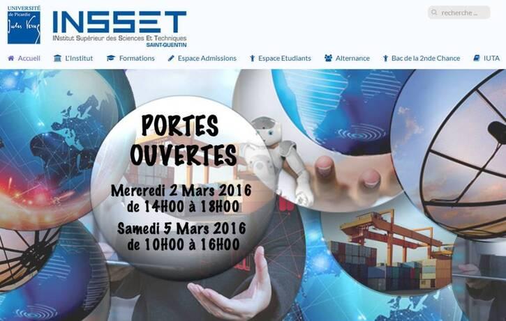 Portes Ouvertes INSSET Institut Supérieiur des Sciences et Techniques Saint-Quentin