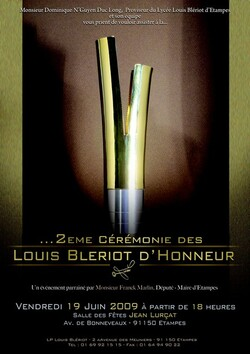 """Les affiches des cérémonies des """"Blériot d'Honneur"""" à Etampes.."""