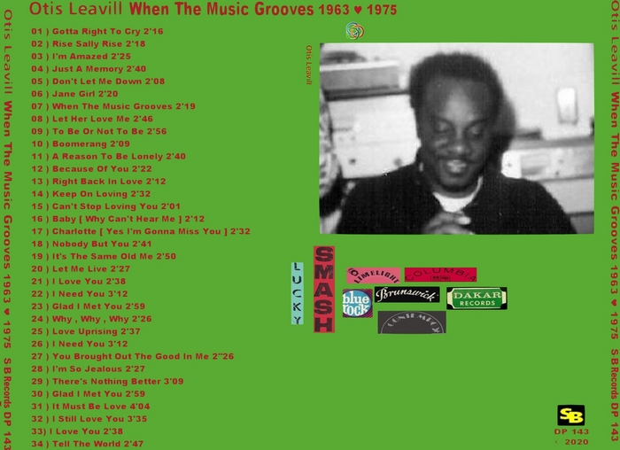 "Otis Leavill : CD "" When The Music Grooves "" Soul Bag Records DP 143 [ FR ]"