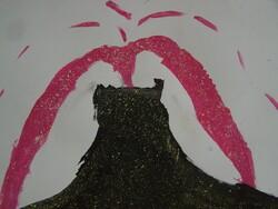 La fournaise : craies, peintures & feutres