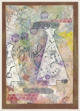 Mes cartes de Noël en mixed media