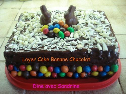 Le Layer Cake de Pâques Banane Chocolat