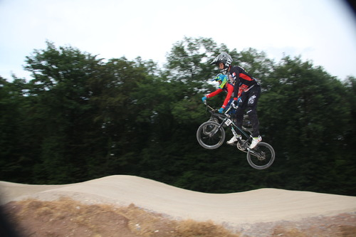entrainement  BMX Mandeure avec les lignes droites modifié