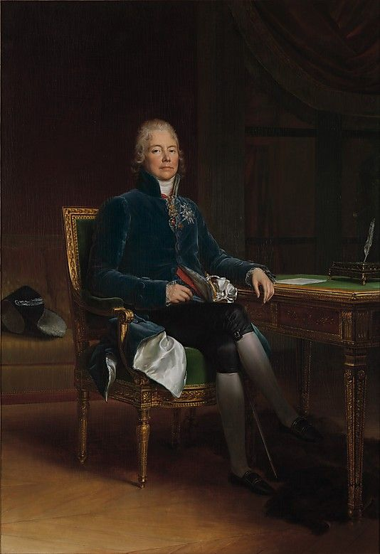 1808 Charles Maurice de Talleyrand Périgord (1754–1838), Prince de Bénévent by baron François Gérard  (French, Rome 1770–1837 Paris) I Metropolitan Museum of Art