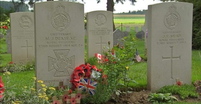 commemoration ,14 18 ,cemetery  batle , , ST Symphorien,World War One, A Cemetery's Poignant Story,  news.sky.