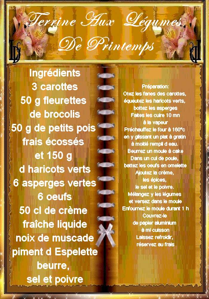 TERRINE AUX LEGUMES DE PRINTEMPS