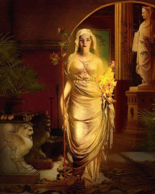 """Hestia-Vesta, """"la Dame de la Demeure"""""""