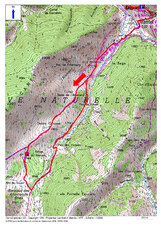 La Vallée de l'Alemany (1.975 m) depuis Mantet (1.475 m)