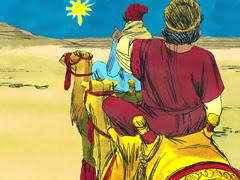 Sages visiter Jésus (Illustration)