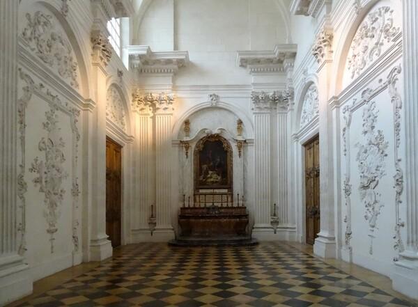 La chapelle des Elus, du palais des Ducs de Bourgogne à Dijon....